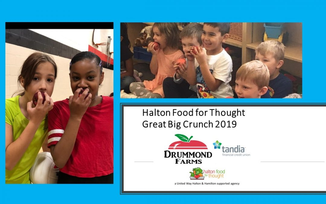 Did you hear that HUGE CRUNCH into healthy local apples Oct 24th as part of HFFT's Great Big Crunch Initiative?