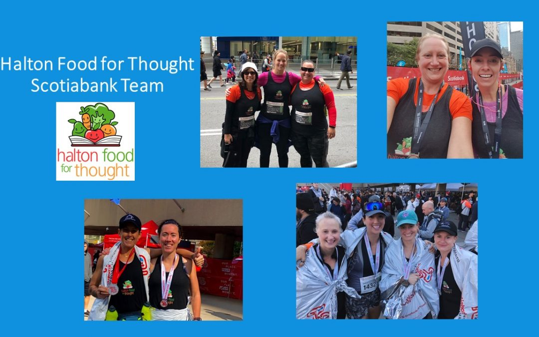 On October 20th our Halton Food for Thought Team raised $5,795 at the Scotiabank Toronto Waterfront Marathon