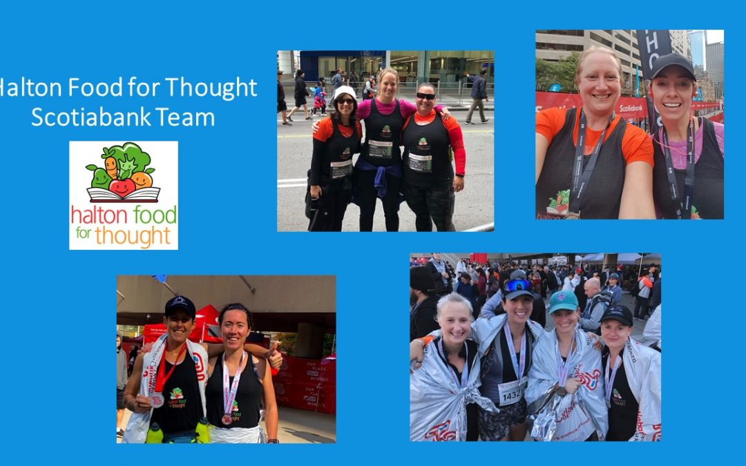 On October 20th the Halton Food for Thought Team participated in the Scotiabank Toronto Waterfront Marathon