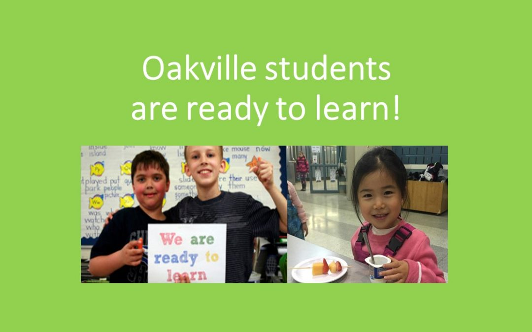 As the Oakville community continues to grow so do the number of Student Nutrition Programs in schools.