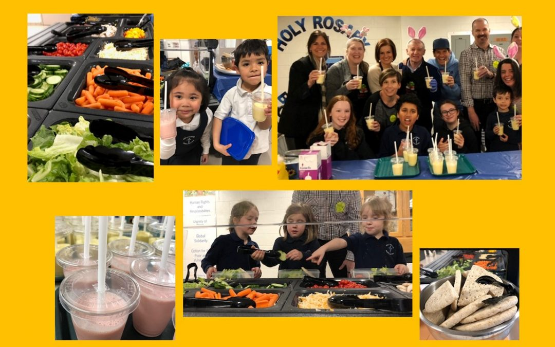 Holy Rosary CES in Burlington launched their Salad Bar program… and they have never looked back!