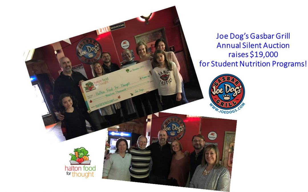 Joe Dog's Gasbar Grill Annual Silent Auction raises $19,000 in support of HFFT Student Nutrition Programs!