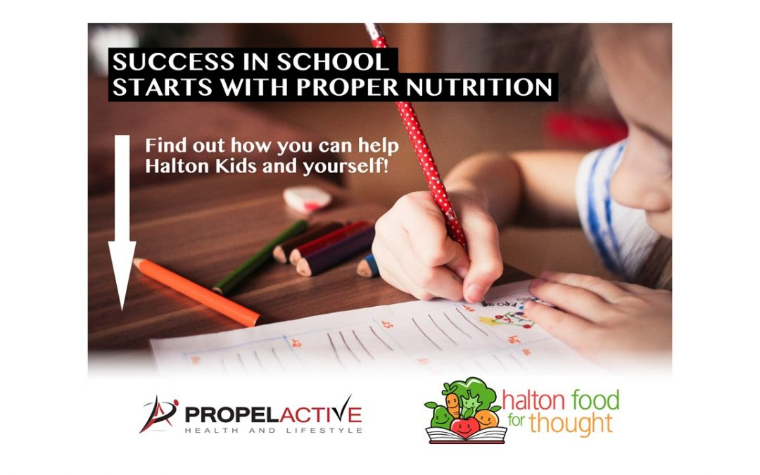 PROPEL Active Health and Lifestyle Burlington partners with Halton Food for Thought Student Nutrition Programs