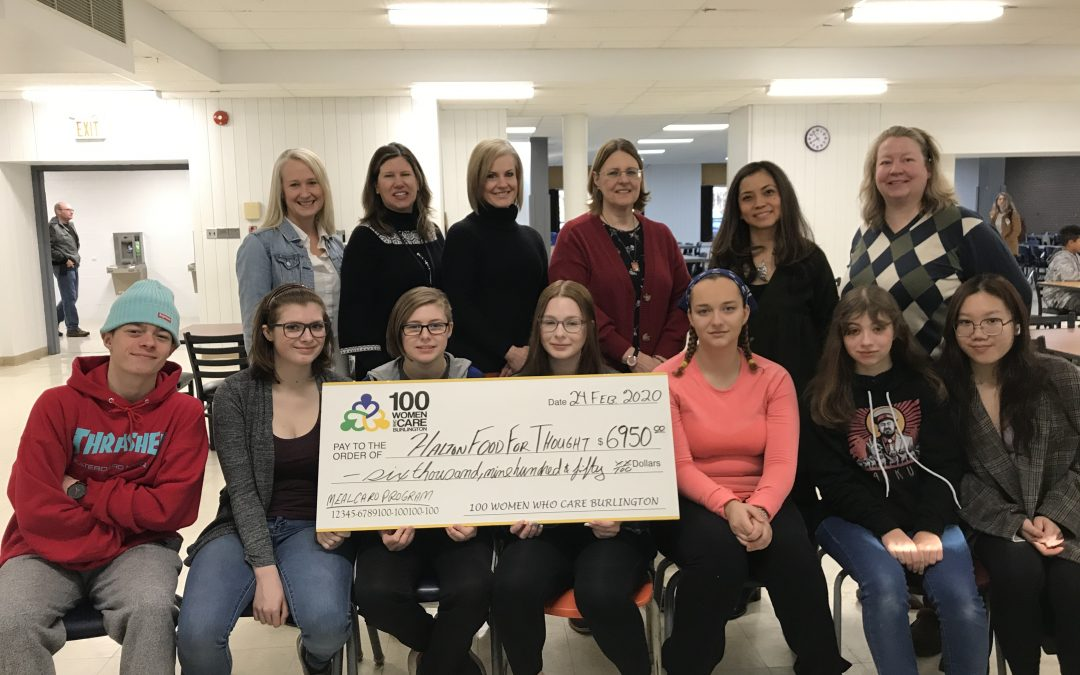 100 Women Who Care Burlington Support HFFT Meal Card Program